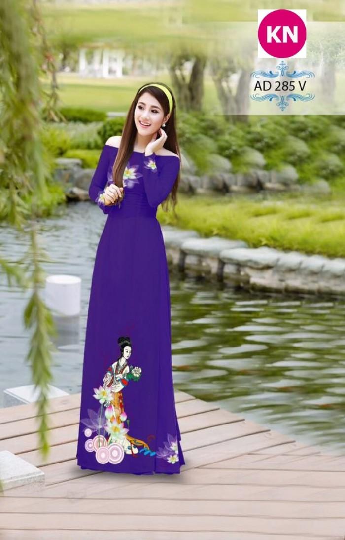 Vải áo dài đẹp in 3D 2859