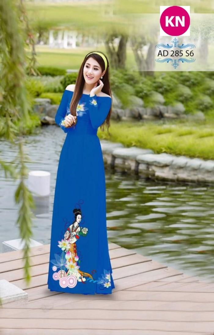 Vải áo dài đẹp in 3D 28512