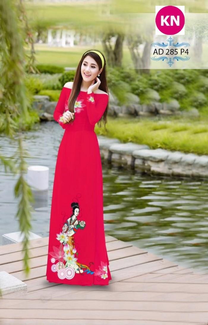 Vải áo dài đẹp in 3D 2852