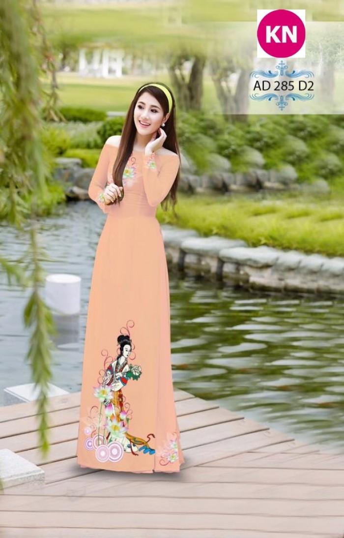 Vải áo dài đẹp in 3D 2858