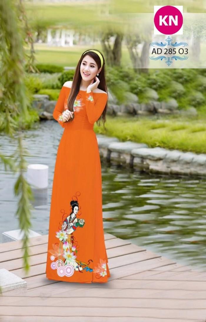 Vải áo dài đẹp in 3D 28513