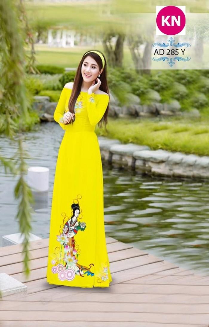 Vải áo dài đẹp in 3D 28510