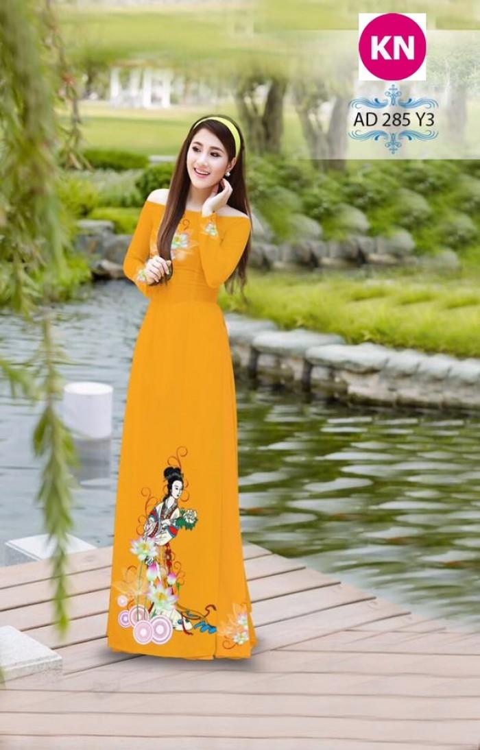 Vải áo dài đẹp in 3D 2851