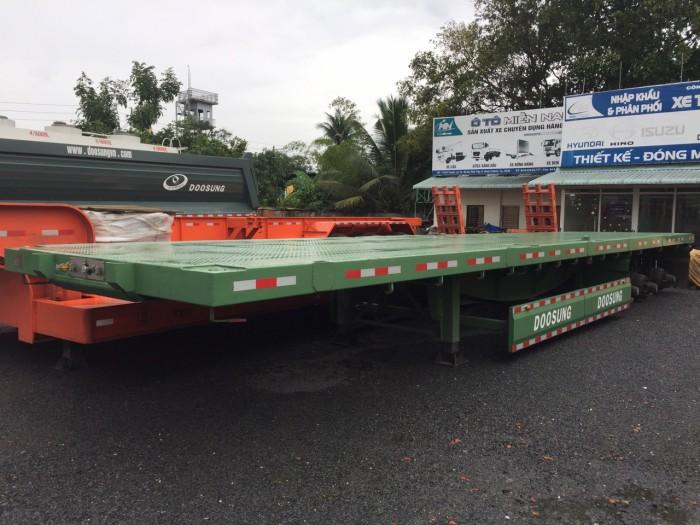 Mooc Sàn phẳng tải(chở container),3 trục,40 feet,32 tấn,giá rẻ,giao tận nơi.
