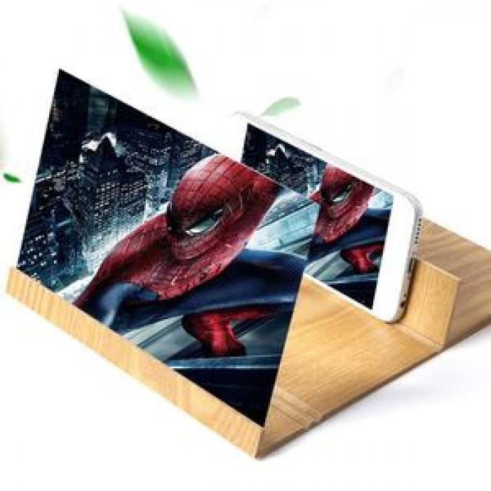 Kính phóng to màn hình điện thoại 12 inch bằng gỗ2