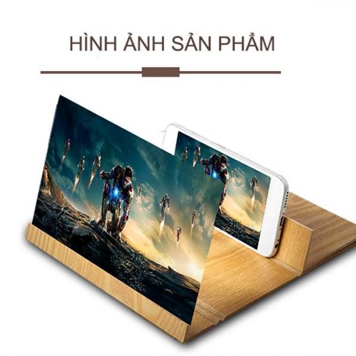 Kính phóng to màn hình điện thoại 12 inch bằng gỗ1