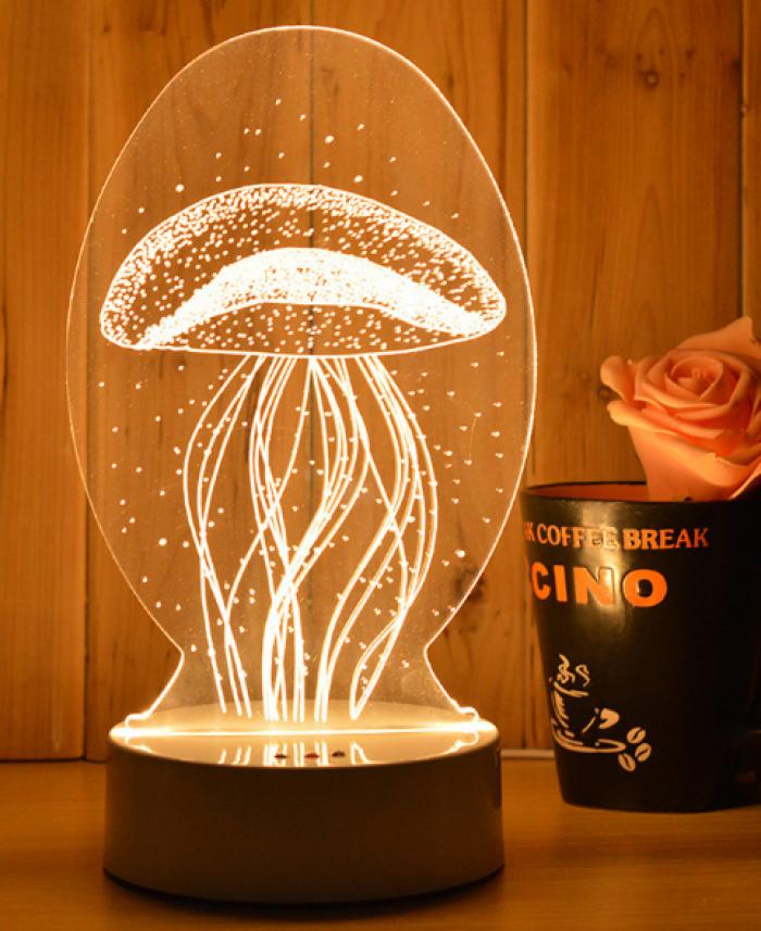 Đèn led trang trí 3D
