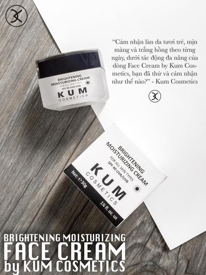 Kem dưỡng trắng da mặt cao cấp an toàn kum cosmetic