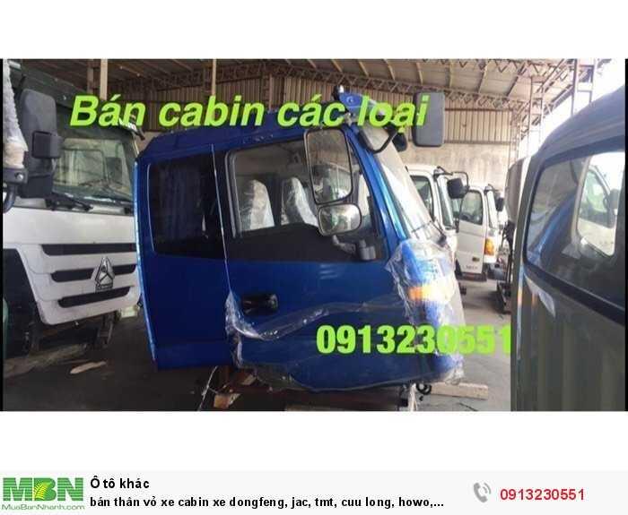 bán thân vỏ xe cabin xe dongfeng, jac, tmt, cuu long, howo, sinotruck, isuzu, hino, tmt, đô thành, thaco auman, thaco forland, cuu long