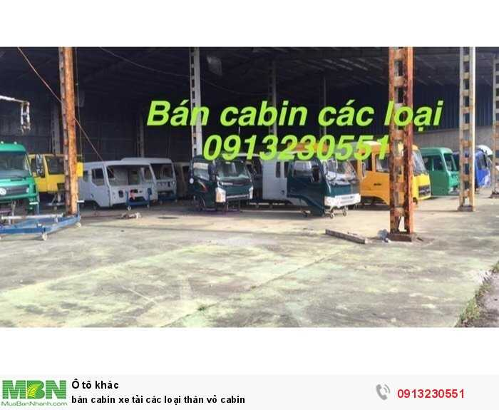 bán cabin xe tải các loại thân vỏ cabin