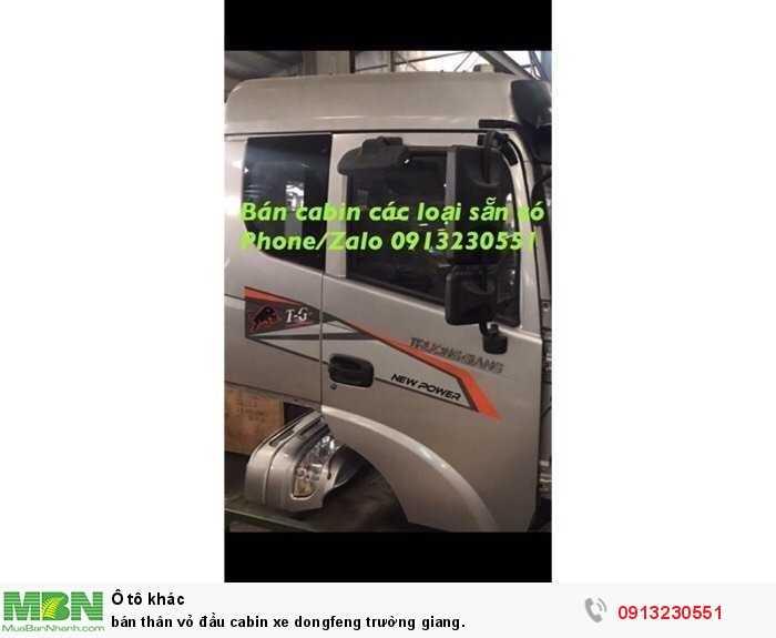 bán thân vỏ đầu cabin xe dongfeng trường giang.