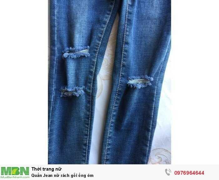 Bỏ sỉ Quần Jean nữ rách gối ống ôm1