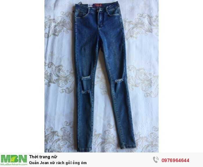 Lấy sỉ Quần Jean nữ rách gối ống ôm toàn quốc từ 20 sản phẩm/mẫu3