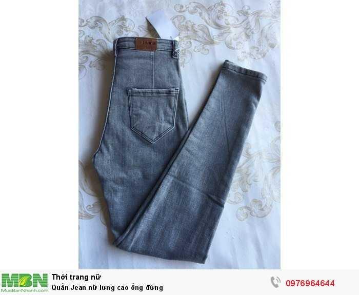 Xưởng chuyên sỉ Quần Jean nữ lưng cao ống đứng1