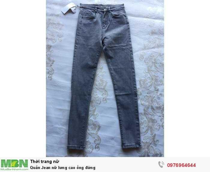 Nguồn hàng sỉ Quần Jean nữ lưng cao ống đứng2