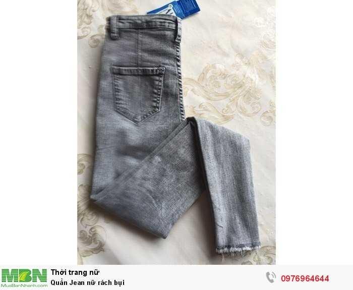 Nhận may gia công quần Jean nữ rách bụi cho shop làm thương hiệu2