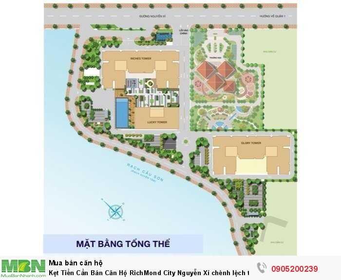 Kẹt Tiền Cần Bán Căn Hộ RichMond City Nguyễn Xí chênh lệch thấp