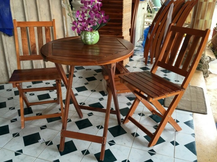Thanh lý bàn ghế gỗ cafe-MMN 112