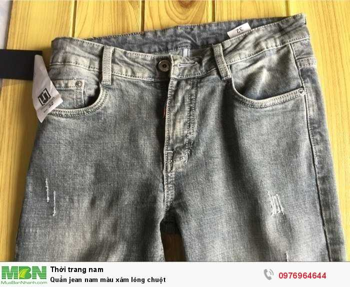 Bỏ sỉ quần Jean nam màu xám lông chuột2