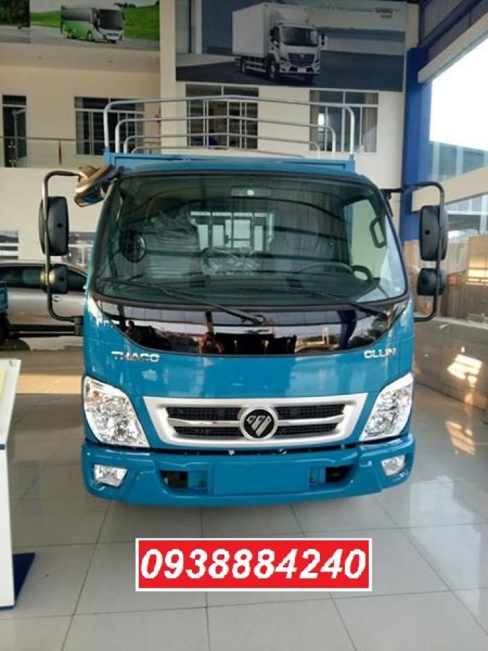 Tặng 100% phí trước bạ xe Thaco Ollin 350 New euro 4 tải 2.4 tấn thùng dài 4.35m - Bán trả góp Tiền Giang Long An Bến Tre 4