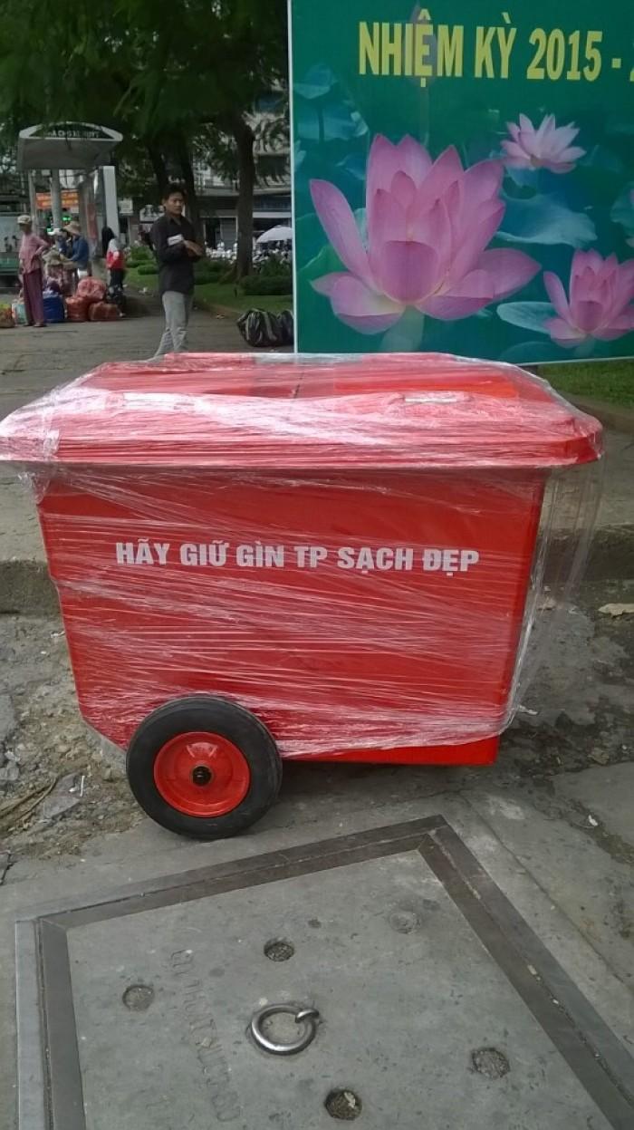 Bán xe đẩy rác - xe thu gom rác 4 bánh xe0