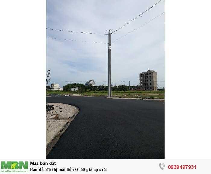 Bán đất đô thị mặt tiền QL50 giá cực rẻ!