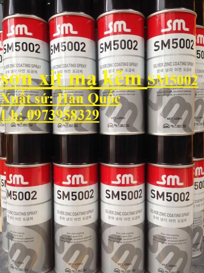Sơn lạnh mạ kẽm dạng xịt SM 5002, LonSM4L , Thùng - giá rẻ cạnh tranh