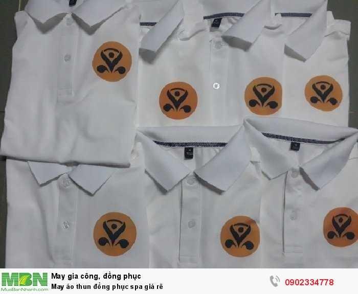 May áo thun đồng phục spa giá rẽ