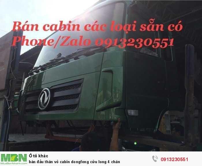 Bán Đầu Thân Vỏ Cabin Dongfeng Cửu Long 4 Chân