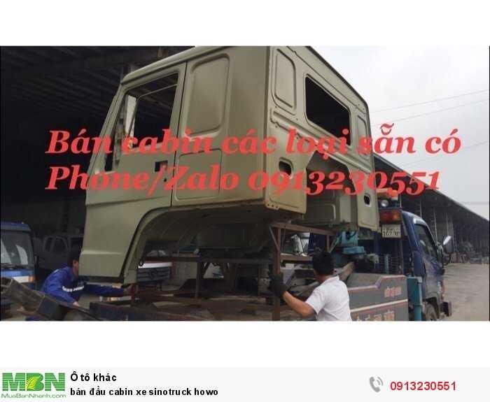 Bán Đầu Cabin Xe Sinotruck Howo