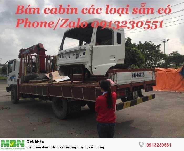 Bán Thân Đầu Cabin Xe Trường Giang, Cửu Long