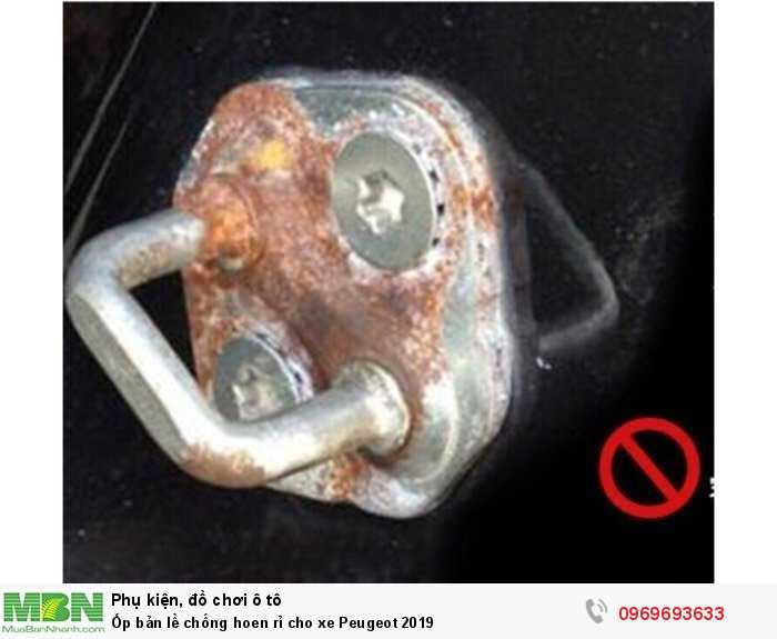 Ốp bản lề chống hoen rỉ cho xe Peugeot 2019