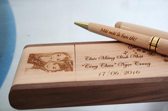 Hộp bút gỗ khắc ảnh và chữ4