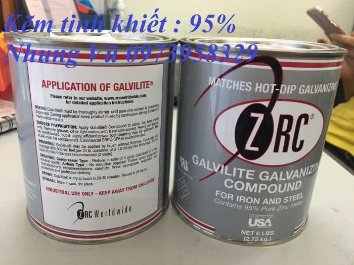 Sơn xịt mạ kẽm ZRC, zincosil, Zincguard, SM5002 - Mỹ , Ý, Úc, Hàn Quốc11