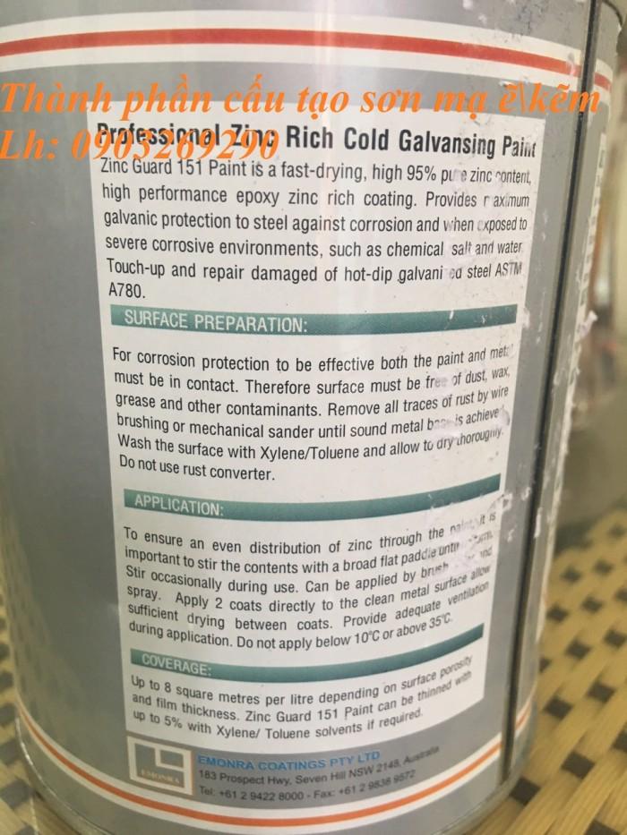 Sơn xịt mạ kẽm ZRC, zincosil, Zincguard, SM5002 - Mỹ , Ý, Úc, Hàn Quốc6