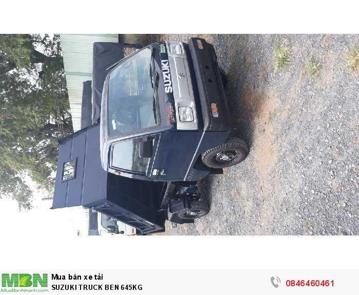 Suzuki truck thùng ben tự đổ loại 645kg nâng tối đa 3 tấn