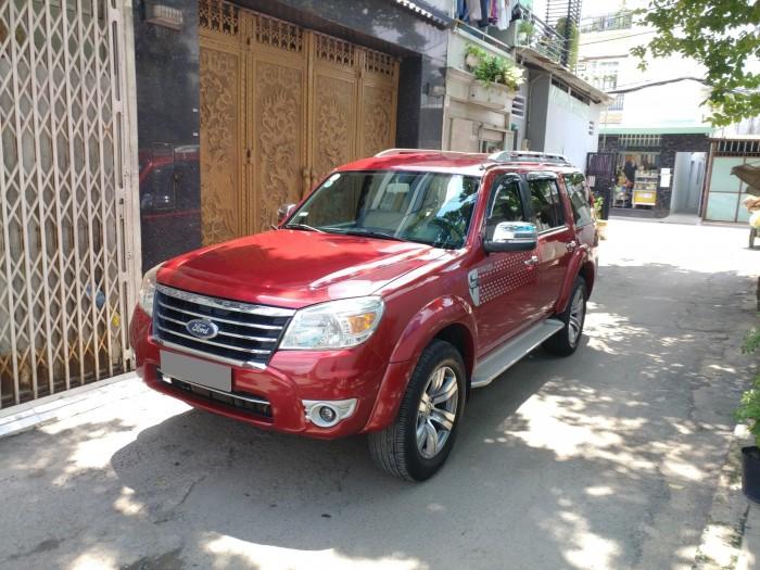 Gia đình cần bán Everest 2012, số tự động, máy dầu. màu đỏ, 7