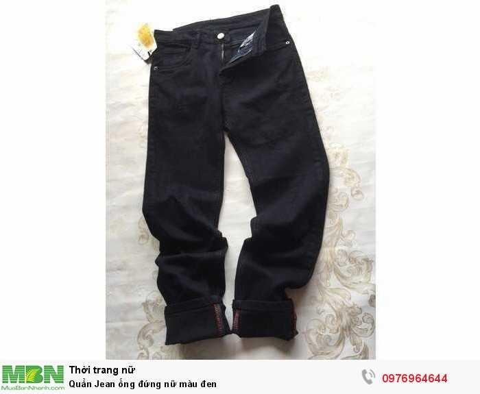 Sỉ quần jean ống đứng nữ màu đen1