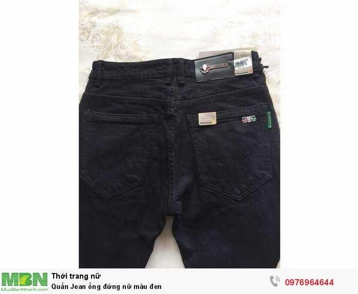 Bán sỉ quần jean ống đứng nữ màu đen2