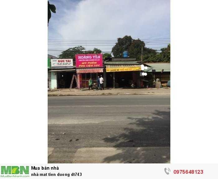 Cần bán căn nhà mặt tiền đường DT743 gần ngã ba ong xã Nga 3 tân Lông