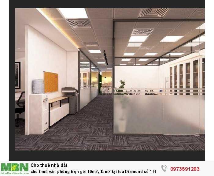 Cho thuê văn phòng trọn gói 10m2, 15m2 tại toà Diamond số 1 Hoàng Đạo Thuý