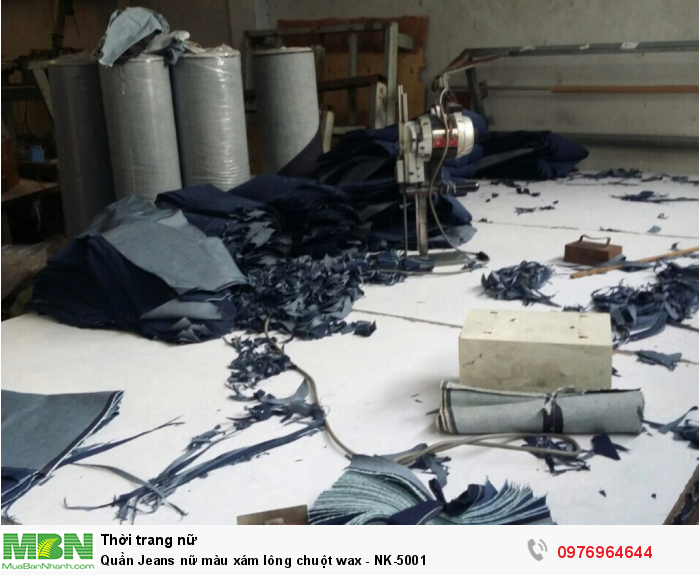 Phân đoạn cắt quần Jean nữ số lượng lớn - Xưởng may Nam Khang1