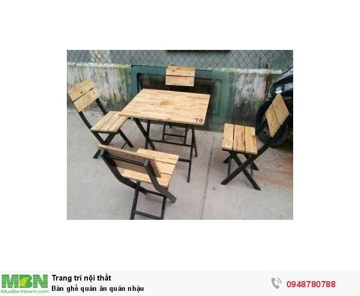 Bàn ghế quán ăn quán nhậu