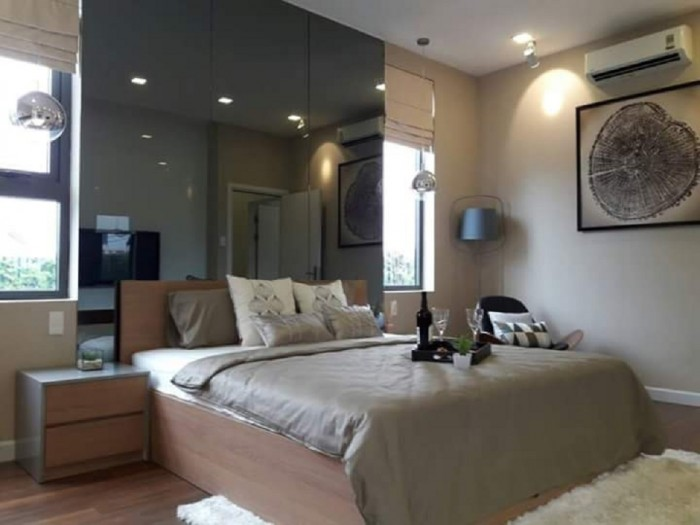 Bán Officetel Centana Thủ Thiêm tầng 8, góc view hồ, 61m2