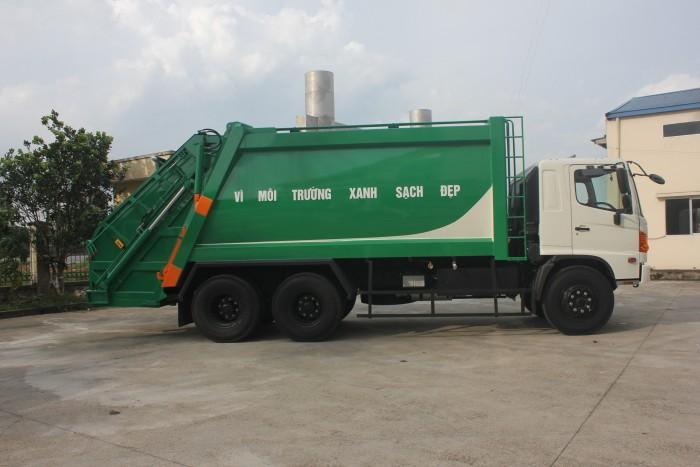 Xe cuốn ép rác Hino FL 22 khối 4
