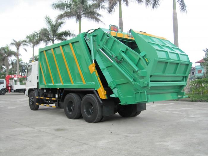Xe cuốn ép rác Hino FL 22 khối 2