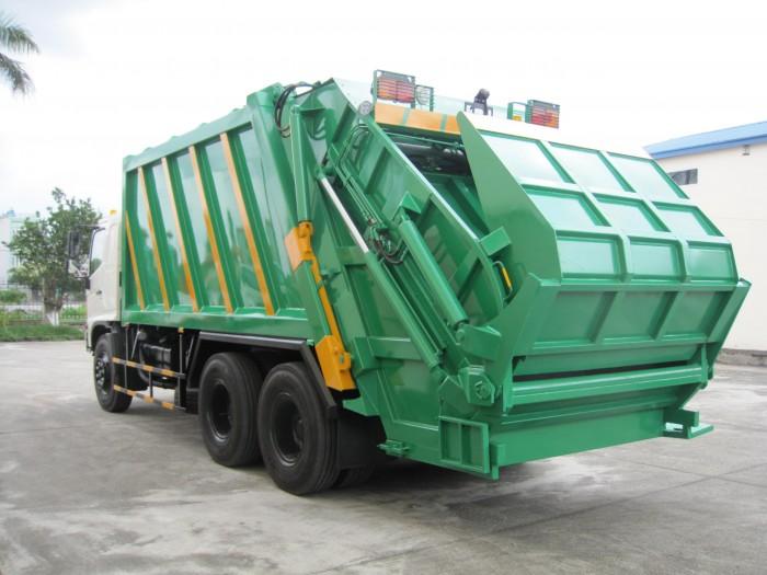 Xe cuốn ép rác Hino FL 22 khối