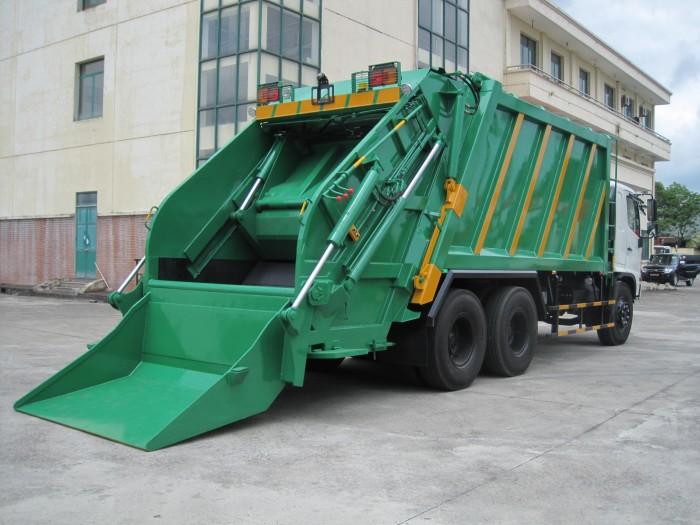 Xe cuốn ép rác Hino FL 22 khối 3