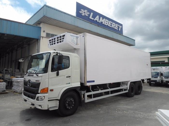 Xe tải Hino FL 15 tấn thùng đông lạnh, trả trước 150 triệu giao xe ngay