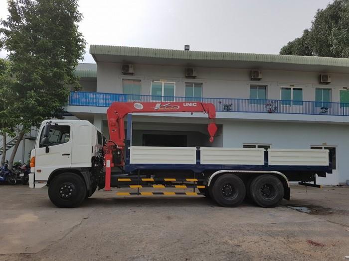 Xe tải Hino FL 15 tấn gắn cẩu Unic 3 tấn 5